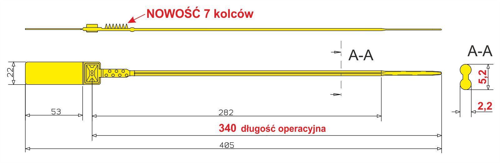 Plomba linkowa SIBO-BAG workowa wymiary